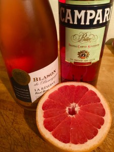Combine 1 oz. Campari with 3 oz. fresh ruby grapefruit juice, then top with chilled sparkling rose
