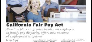 Article on California Fair Pay Act in Plaintiff Magazine by Lisa P. Mak and Aron K. Liang