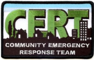 Community Emergency Response Team Logo, Source Wikimedia Commons, public domain