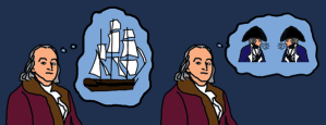 Franklin and Ship and Sailors