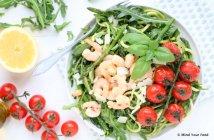 courgette spaghetti met groene pesto