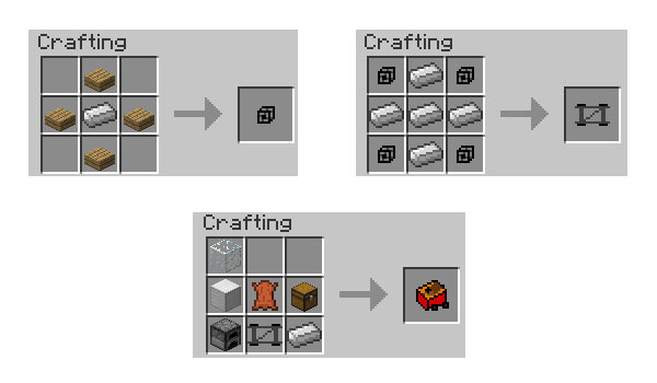 imagen of the recipe for creation the car mod 1.5.1