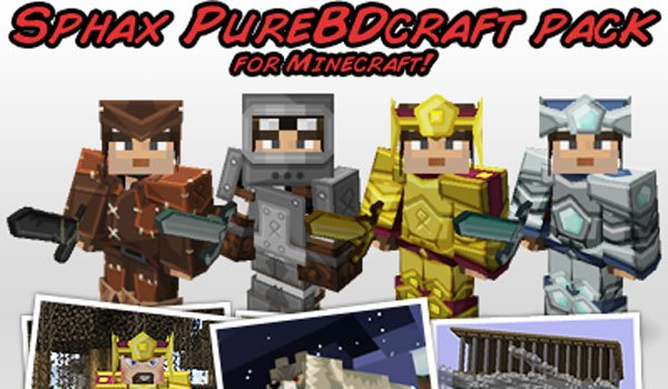 Sphax PureBDCraft Texture Pack for Minecraft 1.8