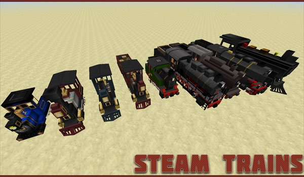 Traincraft Mod for Minecraft 1.6.2 and 1.6.4