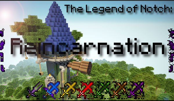 The legend of Notch: Reincarnation Mod for Minecraft 1.5.2