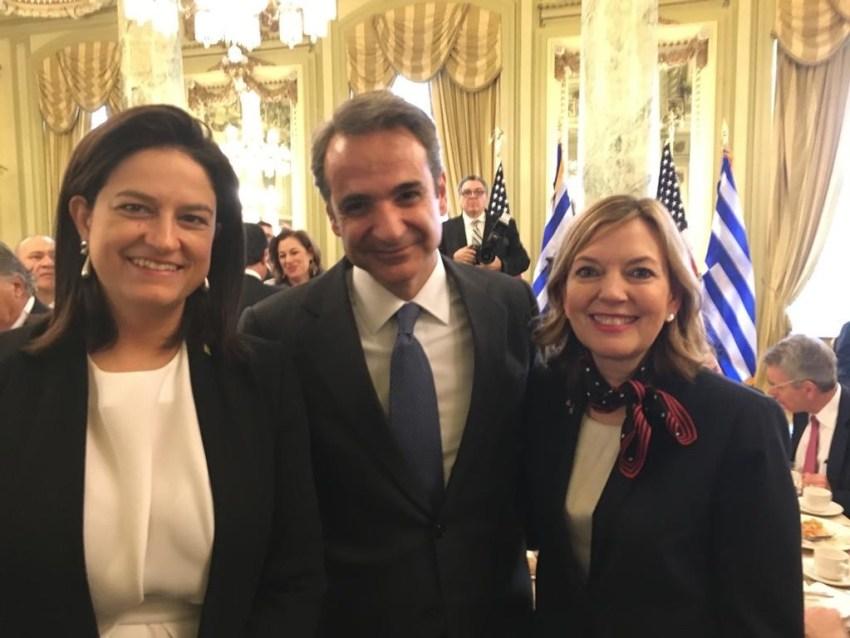 Με τον Έλληνα Πρωθυπουργό κ.Κυριάκο Μητσοτάκη και την Υφυπουργό Παιδείας και Πολιτισμού των ΗΠΑ κα Marie ROYCE