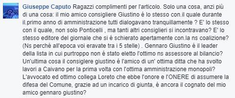 Commento di Giuseppe Caputo