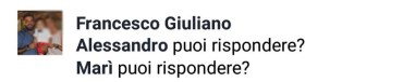 Il secondo commento di Francesco Giuliano