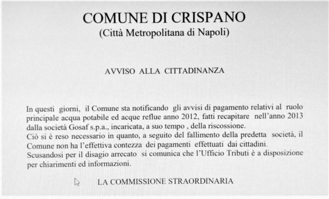 Documento redatto dalla Commissione Straordinaria