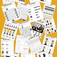 Free Printable 19 Page Halloween Preschool Work Book