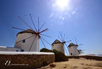 The windmills of Mykonos, Greece