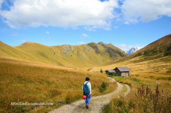 HIking the way back to Val di Fassa