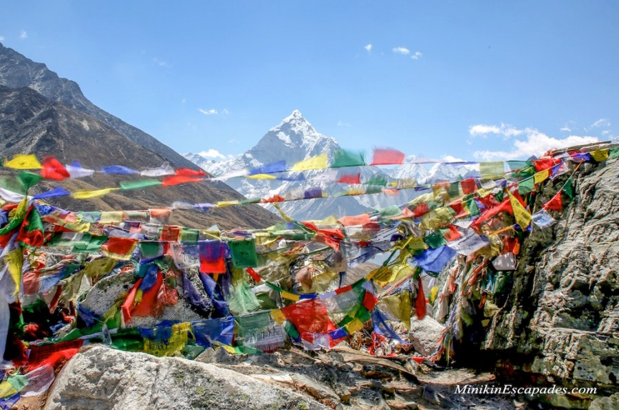 Ama Dablam and parayer flags