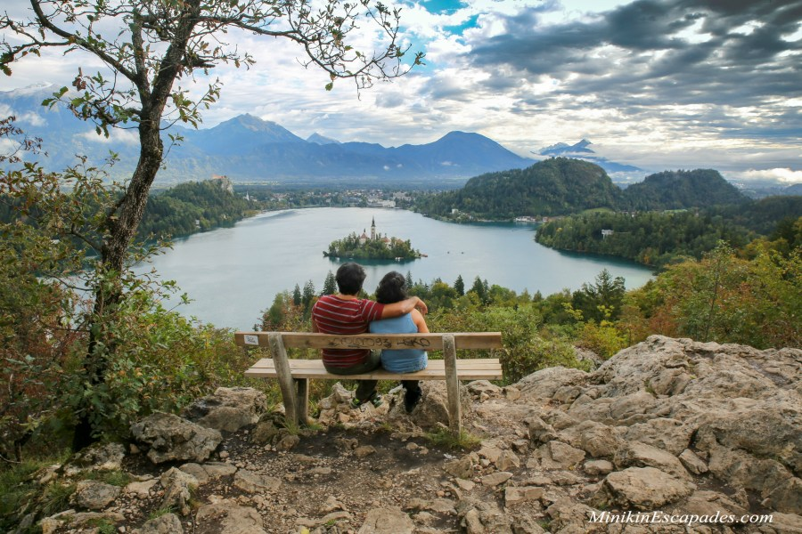 Lake bled viewpoint bench, SLovenia