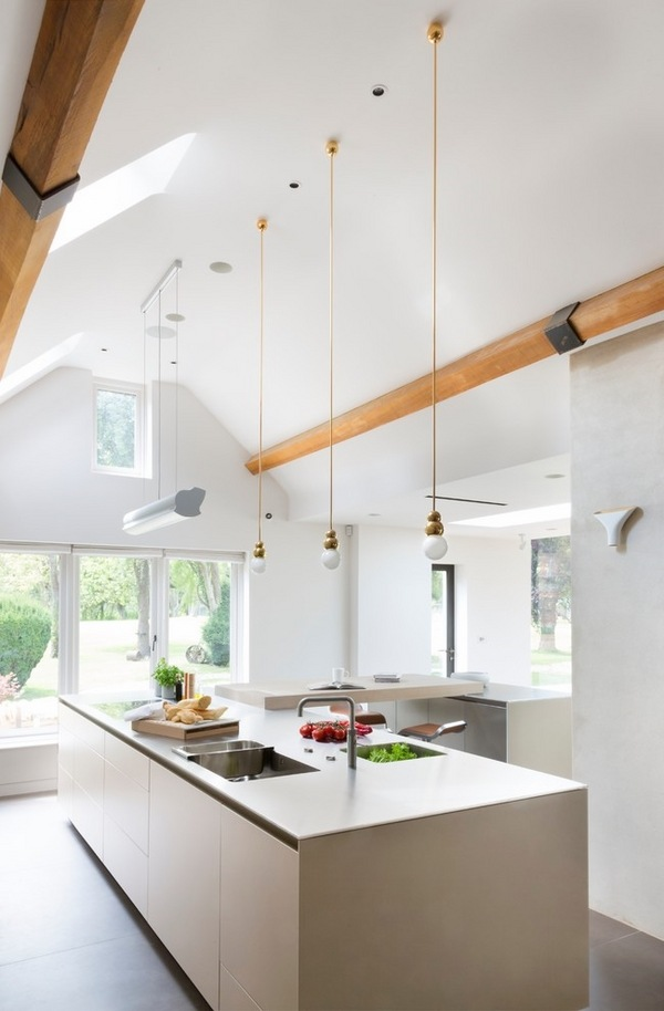 vaulted ceiling lighting ideas skylights mini pendant lights contemporary kitchen solutions e