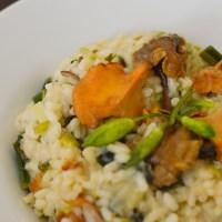 Wild Garlic & Mushroom Risotto