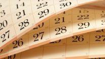 calendar turning
