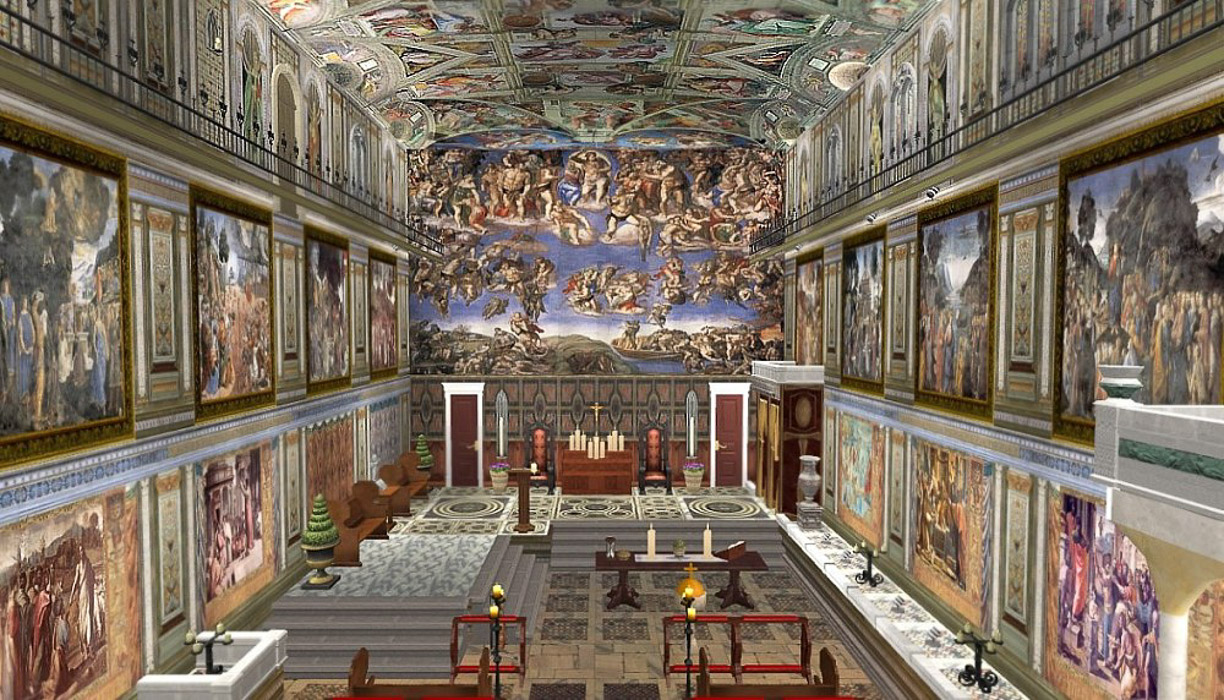 Sistine Chapel Events In The Life Of Moses By Botticelli