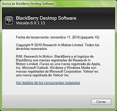 Blackberry Desktop Manager 6.0.1.13