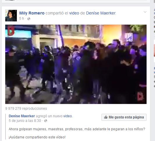 mili-video manifestacion