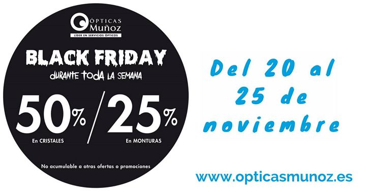 ¡Black Friday en Ópticas Muñoz!