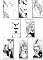 comic page, ink, vampire, man, woman, comic panels, comic layout