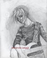pencil, character study, bassist, male, man