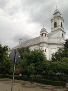 Large Armenian Catholic Church in Gherla, Romania