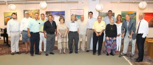 Sports Announcer Bob Lobel (second from right) celebrates with Armenian Museum Trustees and Sports Raffle Winners at the 2015 Sports Raffle Drawing.