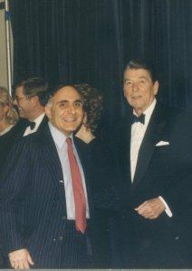 Bob Semonian with President Reagan