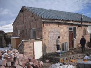 The Tevosyan home under construction