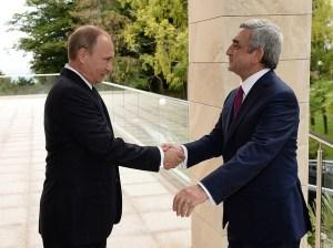 President Putin, left, with President Sargisian