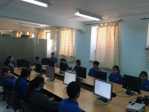 Students at the new computer lab