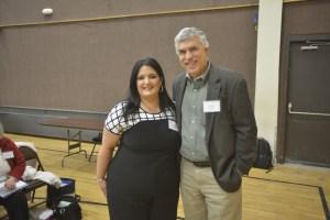 Tracy Rivest Keeney, left, and Mark Arslan