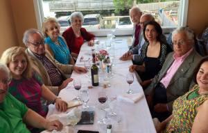 From left, Hagop Vartivarian, Hilda Adil, Dr. Hagop J. Gulekjian, Vicki Shoghag Hovanessian, Artemis Nazarian, Nazar Nazarian, Dr. Raffy Hovanessian, Ani Hovanessian, Henri Dimidjian and Nora Markarian