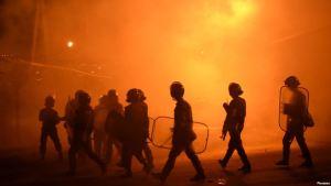Riot police in Yerevan