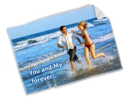 Un grap de plage personnalisé pour les jeunes mariés