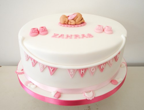 Medium Of Girl Baby Shower Cakes
