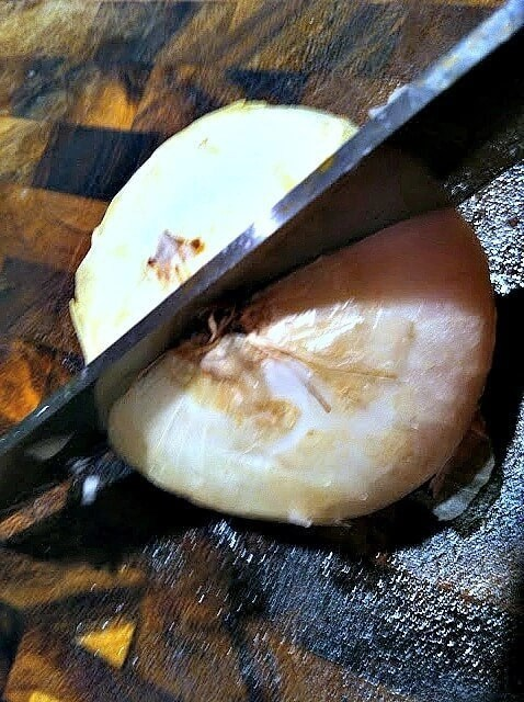 The Correct way to Dice an Onion cut the ROOT in half , also a tip I've never heard before on How not to cry while doing it!