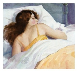 illustration-of-woman-sleeping-on-white-sheets