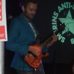 George wearing his new jacket for Smerins Anti-Social Club gig at Green Man Festival, 2012
