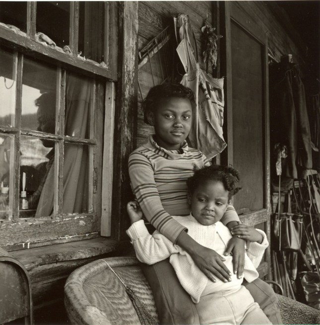 Photo: Builder Levy. Sisters, Osage, Scotts Run, Monongalia, West Virginia, 1970. Gold-toned gelatin silver print.