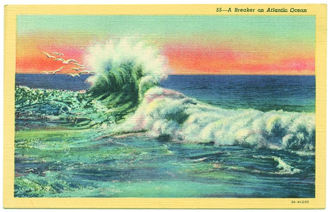 Artwork: A Breaker on Atlantic Ocean, 1933