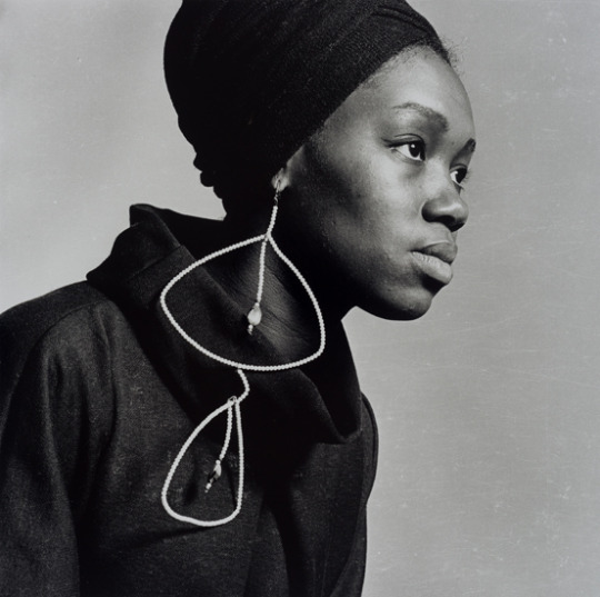 Photo: Untitled (Nomsa with Earrings). 1964, printed 2016Selenium tone silver gelatin print, matted and framed 15 x 15 in., 38.1 x 38.1 cm (image)