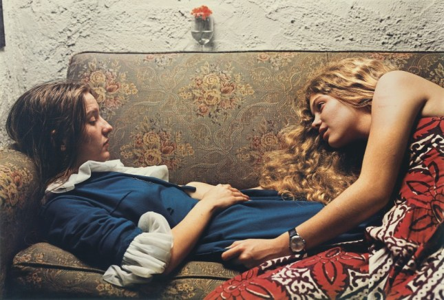 Photo: Untitled, 1974 (Karen Chatham, left, with the artist's cousin Lesa Aldridge, in Memphis, Tennessee) by William Eggleston, 1974 Wilson Centre for Photography