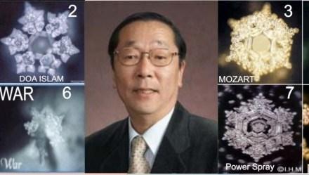 Le emozioni possono influenzare l'acqua, gli studi del dott. Masaru Emoto