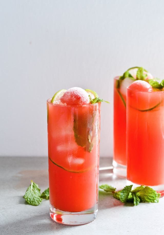 lime watermelon coconut water