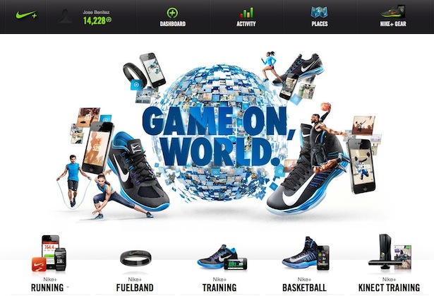 Nike+ Homepage