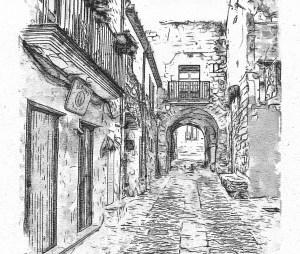 dessin ville
