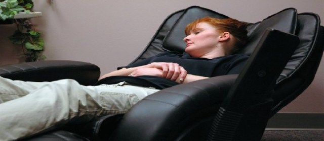 Sleeping on a recliner chair